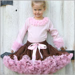 Ally Girl Pettiskirt *BROWN/PINK* (petite - tween)