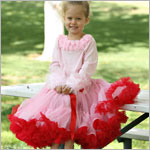 Ally Girl Pettiskirt *PINK/RED* (petite - tween)