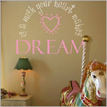 Z: Alphabet Garden Designs Wall Vinyl A Wish Your Heart Makes Monogram