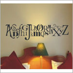 Z: Alphabet Garden Designs Wall Vinyl Letters of the Alphabet Monogram