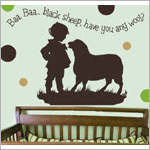 Z: Alphabet Garden Designs Wall Vinyl Bah Bah Black Sheep Boy Monogram