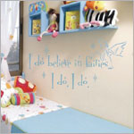 Z: Alphabet Garden Designs Wall Vinyl Believe in Fairies Monogram