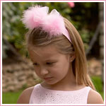 Z: Blooming Bows Girls Marabou Headband