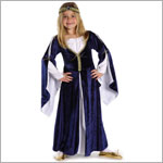Creative Education Blue Lady Kate Dress & Head Piece - Size Medium (8y-10y)
