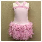 Isobella & Chloe Light Pink Criss Cross Ruffled Tutu Dress
