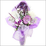 Z: Passionate Purple Hair Accessory Bouquet *1 to 7 Stems*