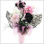 Z: Zestfully Zebra Hair Accessory Bouquet *1 to 7 Stems*