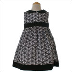 II: Juja Bear Black And White Eyelet Dress