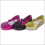 Z: L'Amour GOLD Decorated Puff Toe Flat Shoes
