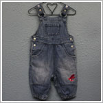 X: Me Too Denim Overalls with Pink Dragonfly