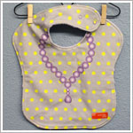 Minnie + Lola GREY W/ PURPLE NECKLACE Dress-Up Bib