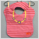 Minnie + Lola PINK W/ YELLOW NECKLACE Dress-Up Bib