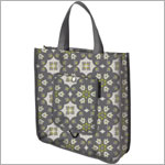 Z: Petunia Pickle Bottom Reusable Shopper Tote - Misted Marseille