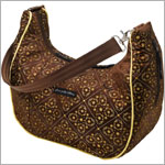 Z: Petunia Pickle Bottom *Brocade* Touring Tote - Toffee Roll