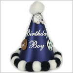 *Birthday Boy* Navy Blue Sports Party Hat