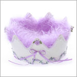 White/Purple Glitter Birthday Crown