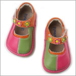 II: Rainbow Steps HOT PINK TRI-COLOR Leather Shoe *SQUEAKS*