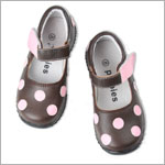 II: Rainbow Steps/Pippytoes Brown and Pink Polka Dot Shoes