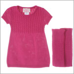 Plum Pudding Mini Fuchsia Sweater Dress w/  Warmers