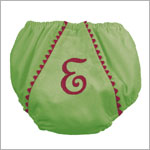 Z: Princess Linens Green with Hot Pink Garden Princess Pique Fancy Pants