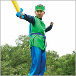 Sarah's Silks Emerald Green/Royal Blue Knight Costume