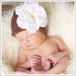 Ally Girl Rose Crochet Beanie Hat *Many Colors*