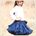 Ally Girl Pettiskirt *NAVY BLUE* (petite - tween)