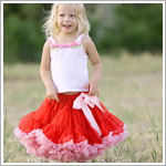 Ally Girl Pettiskirt *RED/PINK* (petite - tween)