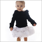 Ally Girl Infant Dropwaist Pettiskirt *WHITE*