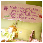 Z: Alphabet Garden Designs Wall Vinyl Butterfly Kiss Monogram