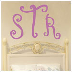 Z: Alphabet Garden Designs Wall Vinyl Curly Monogram