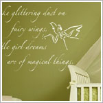 Z: Alphabet Garden Designs Wall Vinyl Fairy Dust Wall Decor