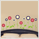 Z: Alphabet Garden Designs Wall Vinyl Designs Flower Garden Wall Decal