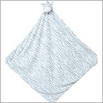 Angel Dear Grey Zebra Napping Blanket
