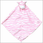 Angel Dear Pink Zebra Blanket