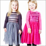 Z: Baby Lulu SHIMMER Charcoal Christy Dress