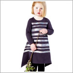 Z: Baby Lulu SHIMMER Charcoal Holli Dress