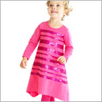 Z: Baby Lulu SHIMMER Fuschia Holli Dress