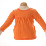 Baby Lulu Koi Celeste Orange A-line Swing Tee