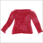 II: Baby Lulu Ribbon Rose Holiday Rose SOLID Velour Shirt