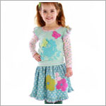 Z: Baby Lulu IRIS & DOT Ginger Skirt Set