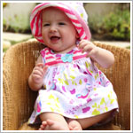 Z: Baby Lulu BIRDIES Skirted Bodysuit