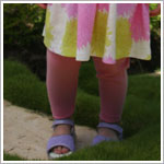 Baby Lulu PUFF FLOWER Pink Leggings
