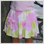 Baby Lulu PUFF FLOWER Bow Skirt