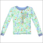 II: Pepper Toes *Baby Surf* L/S Jammie Top