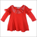 Baby Nay *Big Citizen* Red L/S A-Line Dress