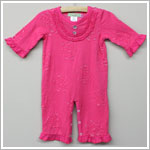 Baby Nay *Big Citizen* Dark Pink Ruffle Flower Cut Out Romper