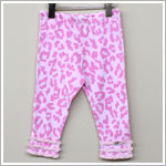 Baby Nay *Big Citizen* Leopard Light Pink Knit Ruffle Pants