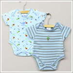 Baby Nay *Da Lil Guys* Space Cadet 2 PACK S/S Print & Striped Bodysuits