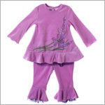 ~Balu Lavender L/S Top With Tiered Pants